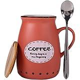 Bje Hot & Cold Ceramic Beverage Mug For Coffee, Tea & Milk, 400 Ml, Red