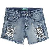 Mädchen Kurze Hose Girl Bermuda Shorts Sommer Capri Kinder Hot Pants Jeans 21303, Farbe:Blau;Größe:140