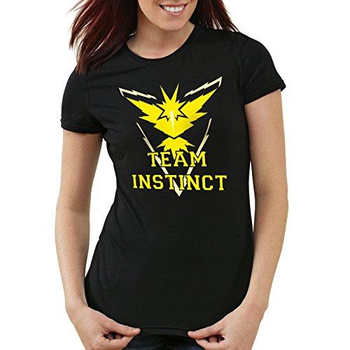 tinct Damen T-Shirt Gelb Instinkt, Farbe:Schwarz;Größe:M ()