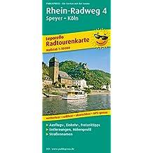Rhein-Radweg 4, Speyer - Köln: Leporello Radtourenkarte mit Ausflugszielen, Einkehr- & Freizeittipps, wetterfest, reissfest, abwischbar, GPS-genau. 1:50000 (Leporello Radtourenkarte / LEP-RK)