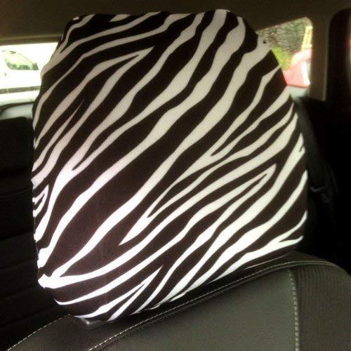 L&S PRINTS FOAM DESIGNS Auto Sitz Kopfstützen Bezug 2Pack schwarz und weiß Zebra Print Design Made in Yorkshire