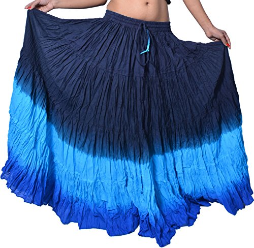 Wevez Damen Rock, Zigeuner-Stil, Bauchtanz-Outfit, Baumwolle, 11 m Stoff - Einheitsgröße - (Zigeuner Outfit)