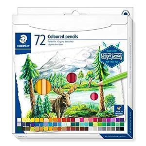 STAEDTLER 146C ST - Lápices de Colores (Forma Hexagonal clásica, Mina Suave, Alta pigmentación, Estuche de cartón con 72 lápices en Colores Brillantes, 146 C72), Multicolor