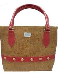 Ranbed Womens Leather Handbag_Beige