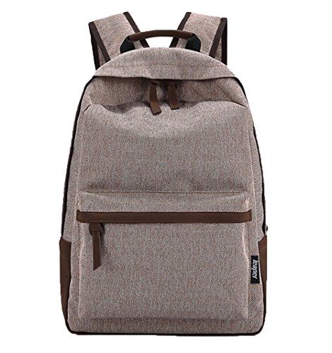 Ohmais Rücksack Rucksäcke Rucksack Backpack Daypack Schulranzen Schulrucksack Wanderrucksack Schultasche Rucksack für Schülerin Coffe