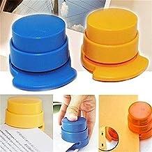 Oficina Hogar Portátil Staple libre Stapleless grapadora papel vinculante cartón Clip 1pc color al azar