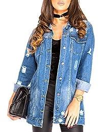 SS7 Women's Oversized Distressed Denim Jacket, Sizes 8 to 16