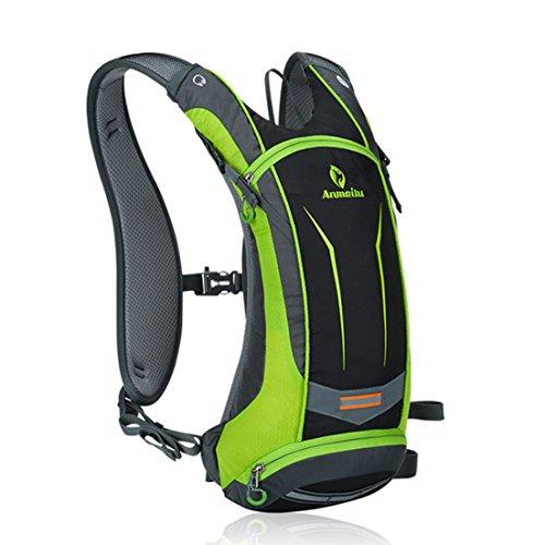 annoda Herren Frauen Outdoor Ausreit Wandern Tragbare Sport Gym Wasser Tasche Rucksack aus Nylon, 1Stück Grün