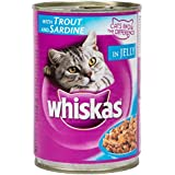 Whiskas Wet Meal Adult Cat Food Trout & Sardine, 400 g Can