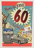 Geburtstagsgrusskarte für Männer zum 60. Geburtstag, mit Geburtsjahr 1958.