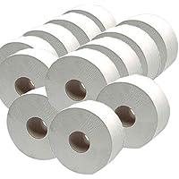 2travail j27200Mini Jumbo Rouleau de papier, 2plis, 92mm x 200m, blanc (Lot de 12)