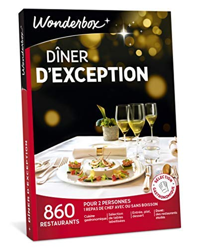 Wonderbox - Coffret cadeau couple - DÎNER D'EXCEPTION - 860 restaurants...