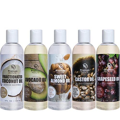 set-regalo-olio-vettore-coconut-oil-olio-di-ricino-olio-di-vinaccioli-avocado-oil-sweet-almond-oil-o
