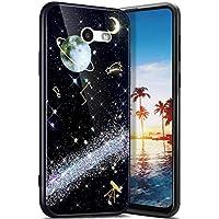 Robinsoni Funda Compatible con Samsung Galaxy J3 2017(US Version) Funda Silicona Carcasa Sparkle Bling Carcasa Gel Goma Fundas de Silicona 3D Case Flexible Ultra Brillante Carcasa Funda Plata