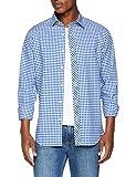 G-STAR RAW Herren Freizeithemd Bristum Shirt L/s, Mehrfarbig (Milk/Hudson Blue 2743), Medium