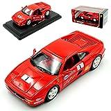 Ferrari F355 Challenge Coupe Rot Nr 1 1994-1999 1/24 Bburago Modell Auto mit individiuellem Wunschkennzeichen