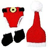 Foxnovo Christmas Baby Infant Newborn Handmade Crochet Beanie Hat Clothes Baby Photograph Props