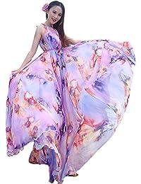 Medeshe Comfortable Lightweight Chiffon Prom Evening Maxi Dress Full Bridesmaid Dress