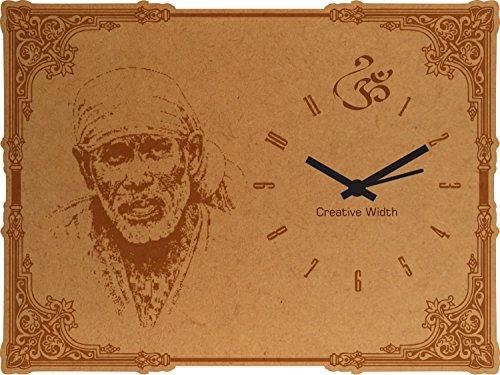 Creative Width Sai Baba Engraved Frame Clock - 8x6 inch