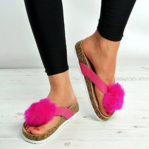 Cucu Fashion ,  Damen Peep Toes Fuchsia