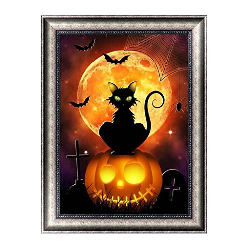 amant Malerei 5D Diamant Halloween Malerei DIY Stickerei Kreuzstich Wohnkultur Handwerk Kunst Halloween A ()