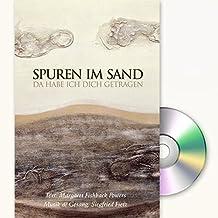 Spuren im Sand: Grußkarte mit Mini-CD im Umschlag