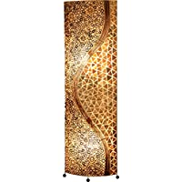 Stand Leuchte Bambus Muschel Design Lampe Wohn Arbeits Zimmer Beleuchtung braun