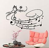 Adesivi da Parete Farfalla Vinile Musica Note Musicali scuola studio home decor decorazioni camera art (77x120) mn650