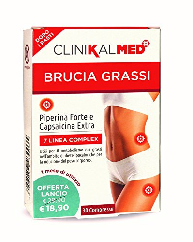 BRUCIA GRASSI- con PIPERINA forte e CAPSAICINA extra- Azione mirata per PERDITA DI PESO (30 giorni di trattamento)