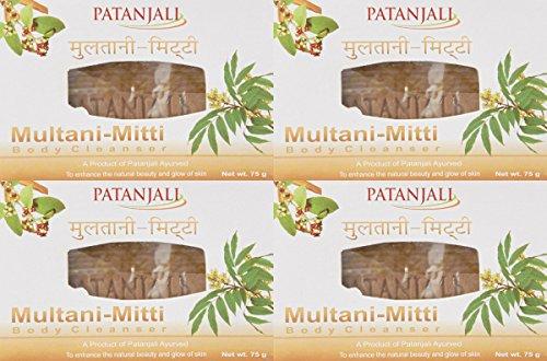 Patanjali Ojas Multani mitti Body Cleanser, 75G von Patanjali 4Stück