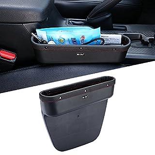 Mr. Ho Auto Seat Seiten-Schlitz-Taschen Leder Auto-Sitzablagefach Organizer  Fit Für Sitz und Konsole Slot von Autos Schwarz(Recht)