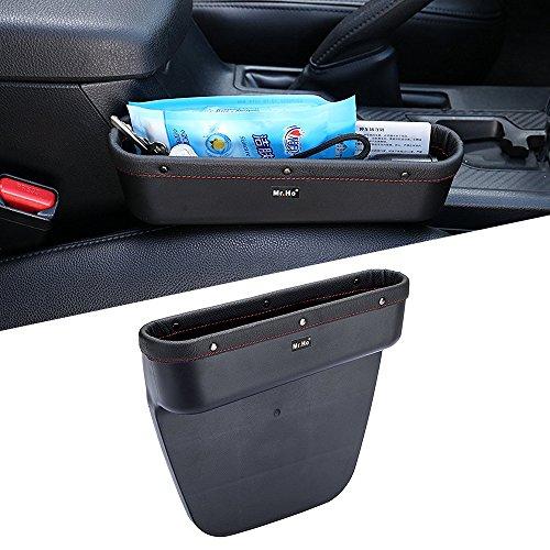Mr. Ho Auto Seat Seiten-Schlitz-Taschen Leder Auto-Sitzablagefach Organizer  Fit Für Sitz und Konsole Slot von Autos Schwarz(Recht) -