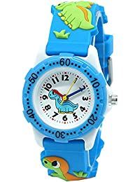 Fashionable-Shop School Toddlers Kids Time Teach 3D Cartoon Boys Girls Watch Japan Quartz Durable Silicone Christmas Birthday Gift 3-10 Years Old Water Resistant UN1739