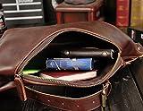 Vintage Leder Handtasche Klein Sporttasche Sling Brusttasche Bauchtasche Herren Fanny Packs Messenger Bag -
