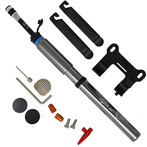 Mini Bike Pumpe tragbar passend für Schrader und Presta-Ventil–acpop Hohe Druck Pumpen geeignet für BMX, Road und Mountain Bikes und Basketball & Fußball–