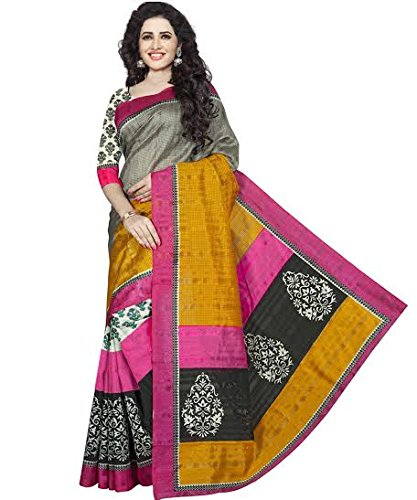 Divyaemporio Womens Cotton Silk Self Print Saree (Dev-10920 _Multi-Coloured)