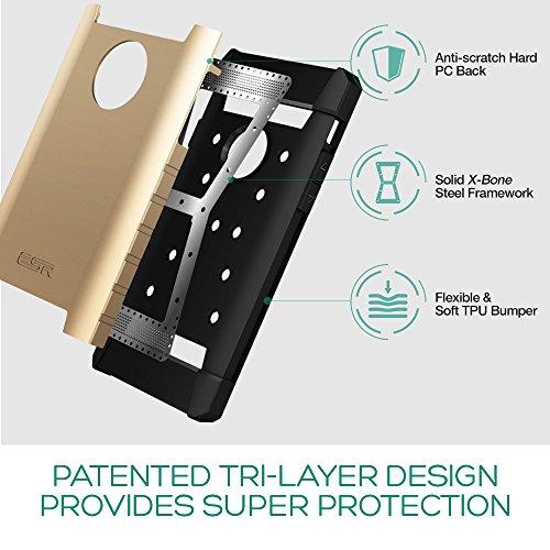 iPhone 6s Plus / 6 Plus Hülle (5,5 Zoll), ESR® Hybrid Schutzhülle, Weiche Silikon + Hart PC + Metall 3-Schichten Stoßdämpfung Hülle für iPhone 6/6S Plus [Kostenloses Geschenk: HD Klar Schutzfolie]- Sh Gelb