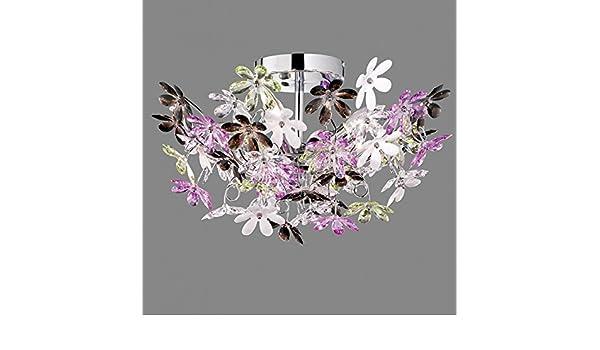 Plafoniera Fiori Colorati : Lampadario in plexiglass colorato plafoniera sole vari colori