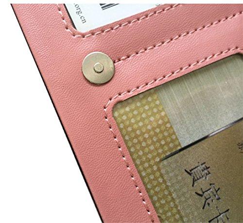 Keshi Pu neuer Stil geldbörse damen lang Pink