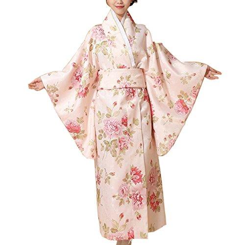 Fancy Pumpkin Kimono japonés Impreso Floral Yukata