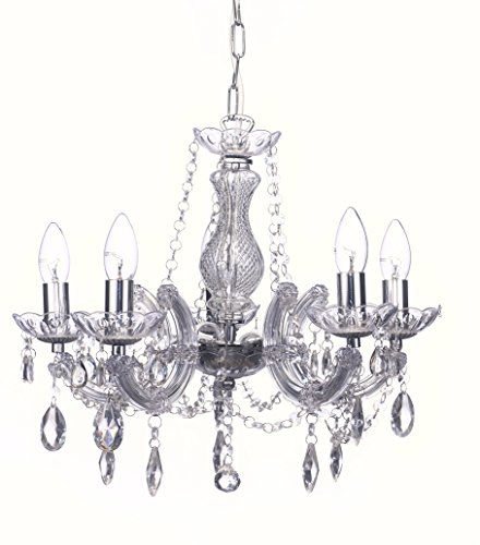 Marie Therese Chrome and Crystal Glas Ceiling Chandelier Lightings Pendants