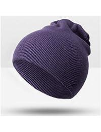HAOLIEQUAN Moda Caldo Cappello Lavorato A Maglia Cappello Invernale da  Donna per Uomo Donna Passamontagna Unisex e47ed93963db