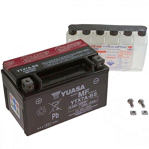 AGM Batterie Motowell Yoyo 50 4T 10-15 Yuasa YTX7A-BS Dry 7070766