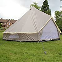 Boutique Camping 4m Lightweight Zipped In Ground Sheet Bell Tent 24