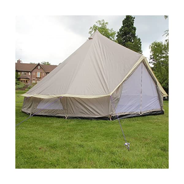 Boutique Camping 4m Lightweight Zipped In Ground Sheet Bell Tent 1