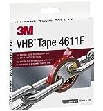 3M 4611193 - Nastro biadesivo VHB 4611F ad alte prestazioni, 19 mm x 3 m, colore grigio
