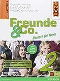 Freunde & Co. Kursbuch-Arbeitsbuch-Activebook-Schulbatt. Per la Scuola media. Con CD Audio: 2
