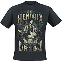 Jimi Hendrix Art Nouveau T-Shirt schwarz