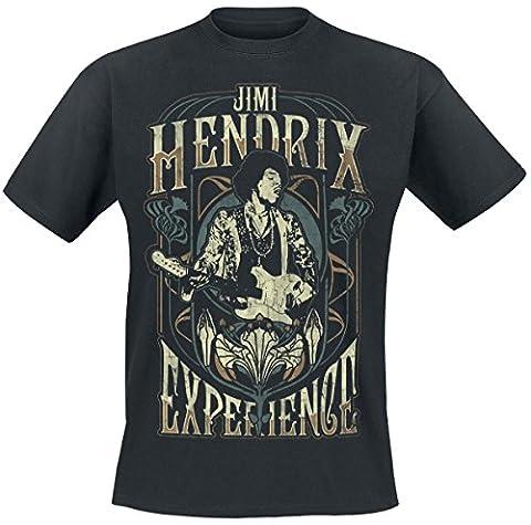 L Officiel Art - Jimi Hendrix Art Nouveau T-shirt noir