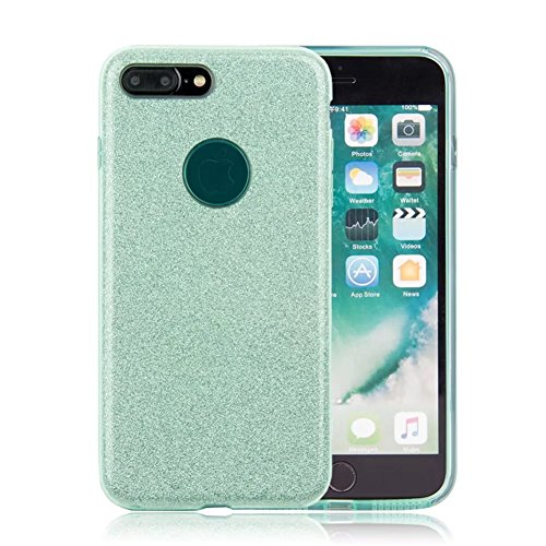"iPhone X Case, VMAE Full Body Shiny Hybrid Case Soft TPU Hard PC 3in1 Untra Slim Protective Cover Shell for Apple iPhone X/iPhone 10 5.8"" - SolidPurple SolidGreen"